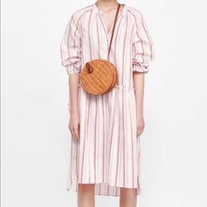 Zara Woman Size Medium The Long Striped Dress
